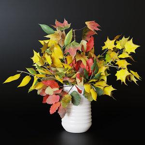 3D model autumn bouquet