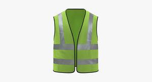 vest work worker 3D