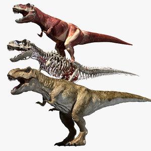 muscle t rex 3D model
