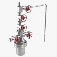 3D oilfield wellhead model