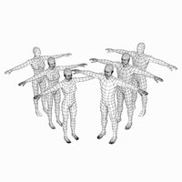 Female and Male Base Mesh Natural Proportions in T-Pose BUNDLE