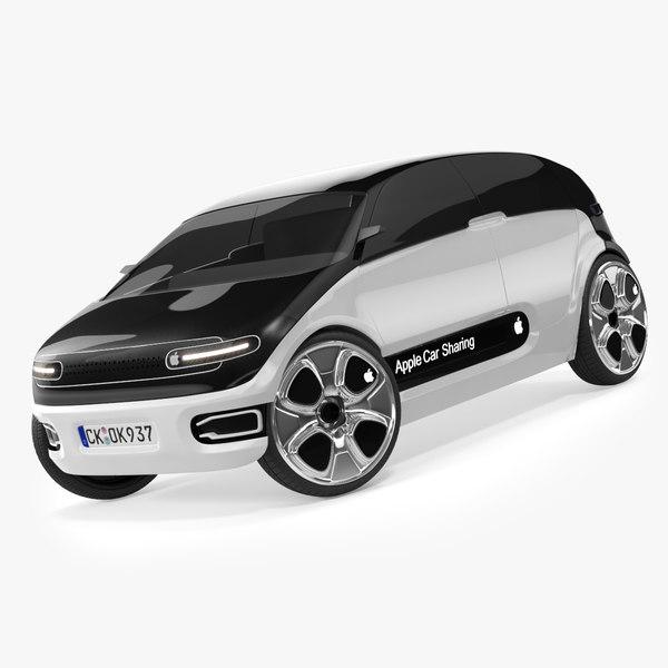 concept apple car 3D