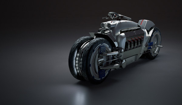 3D dodge tomahawk motorcycle model
