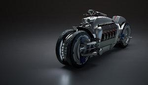 3D dodge tomahawk motorcycle model