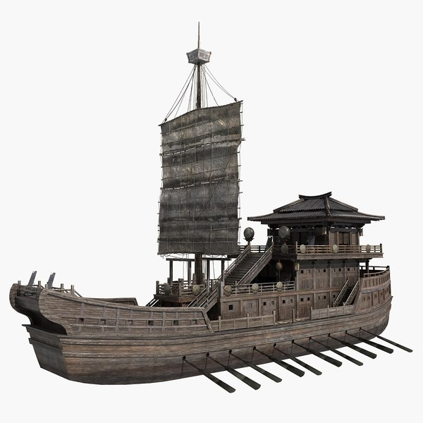3D chinese ancient warships