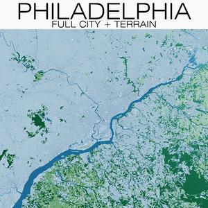 3D philadelphia city terrain