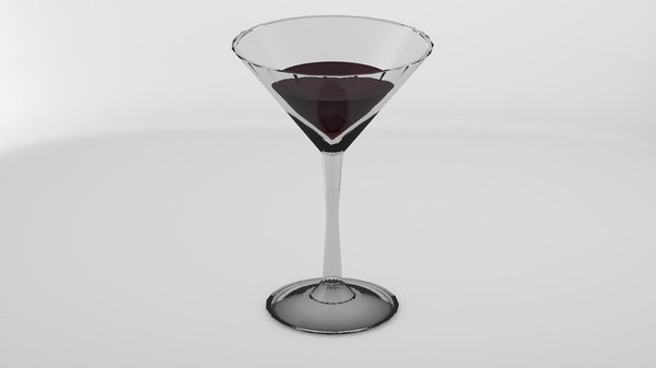 3D martini glass