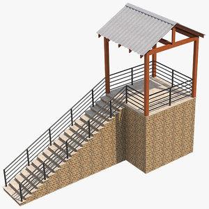 platform 1 3D model