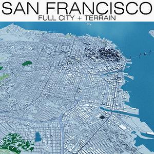 san francisco city terrain 3D model