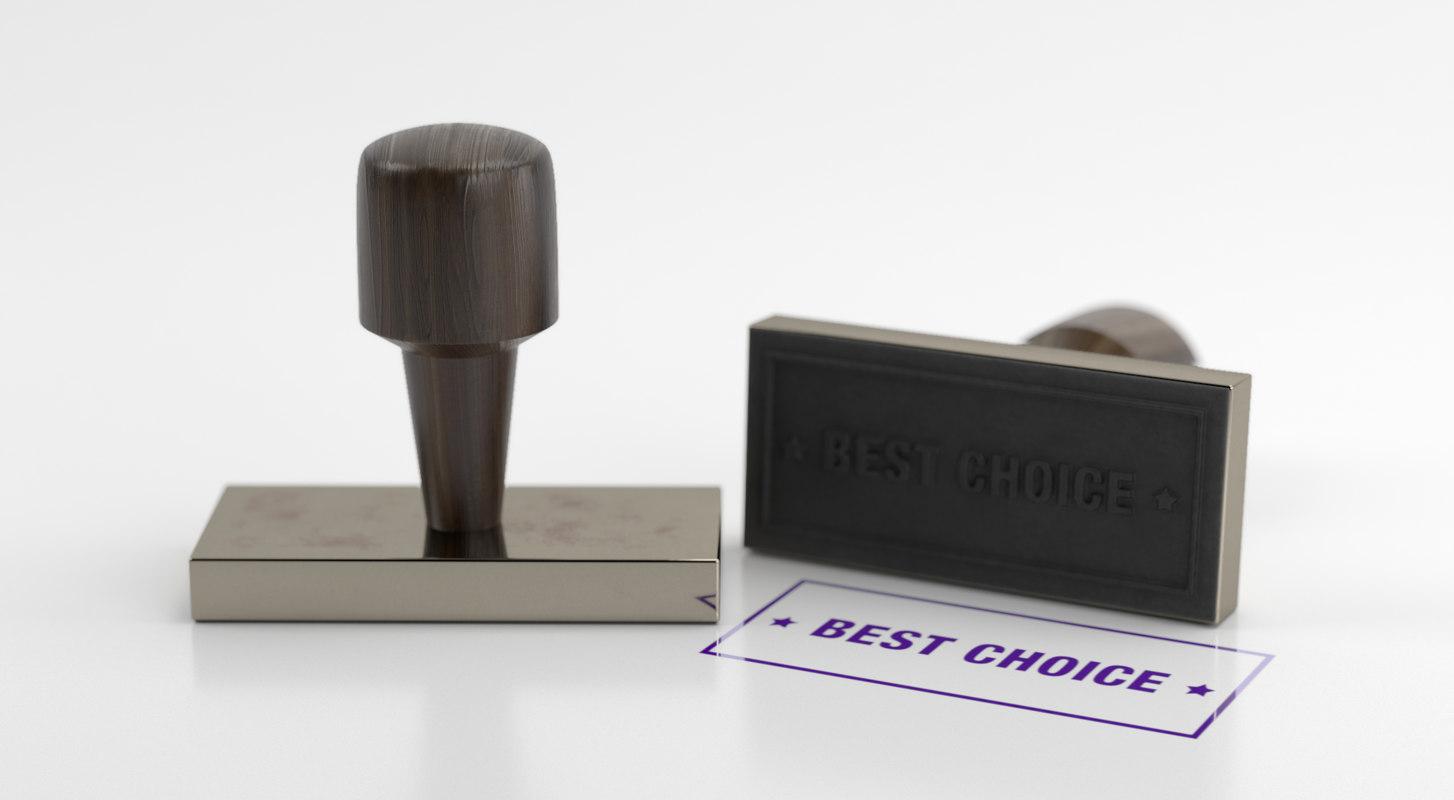 stamp seal handle 3D model