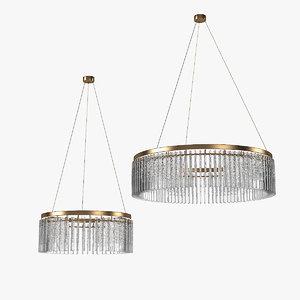 3D model veranese crystal chandelier set