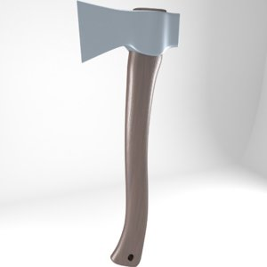 axe wood 3D