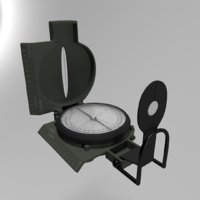3D military compass model