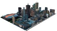 big city a1 night 3D model
