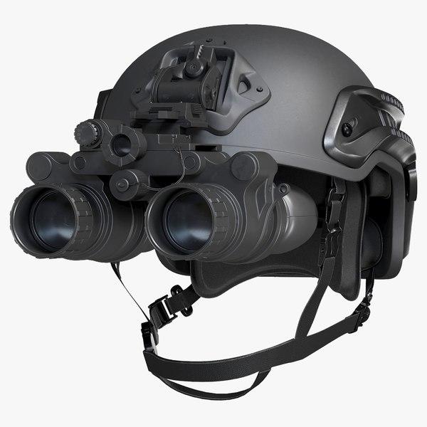 helmet night vision goggles 3D