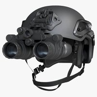 Helmet With Night Vision Goggles