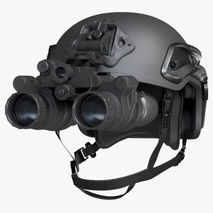 helmet night vision goggles 3D