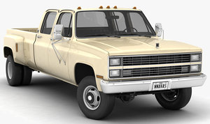 3D 4wd pickup truck