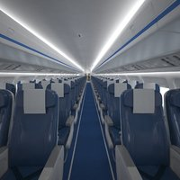 Airplane cabin 109 seats V2