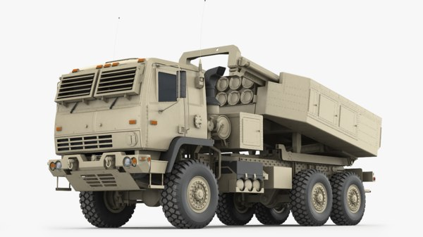 m142 himars army truck 3D model