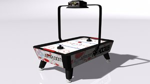 3D air hockey table model