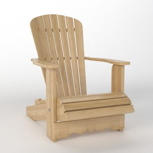 3D adirondack chair royal