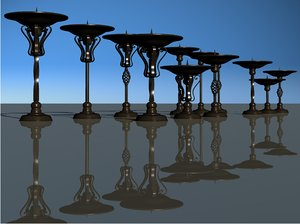 iron candlesticks 3D model