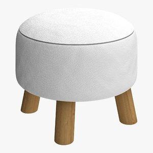 3D pouf interior modern model