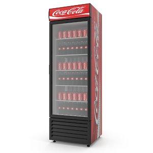 3D model soda refrigerator