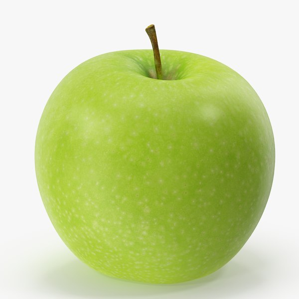 apple granny smith 02 3D model