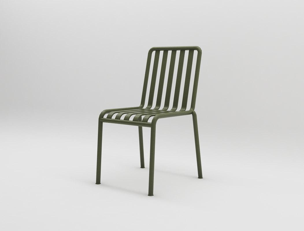 3D palissade chair design interior model