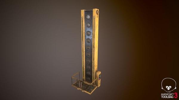3D model futuristic cyberpunk lift