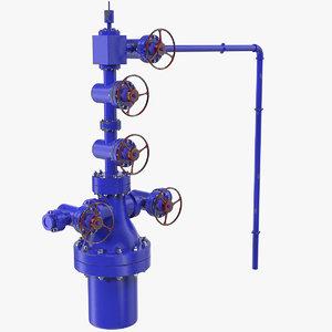 oilfield wellhead 3D model