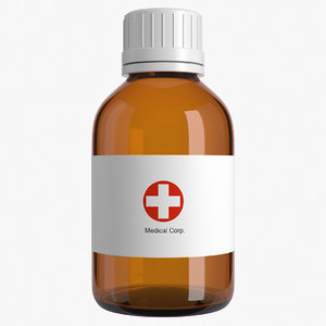 3d max medical bottle