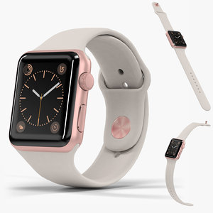 3D apple watch rose gold model