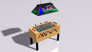 3D foosball table model