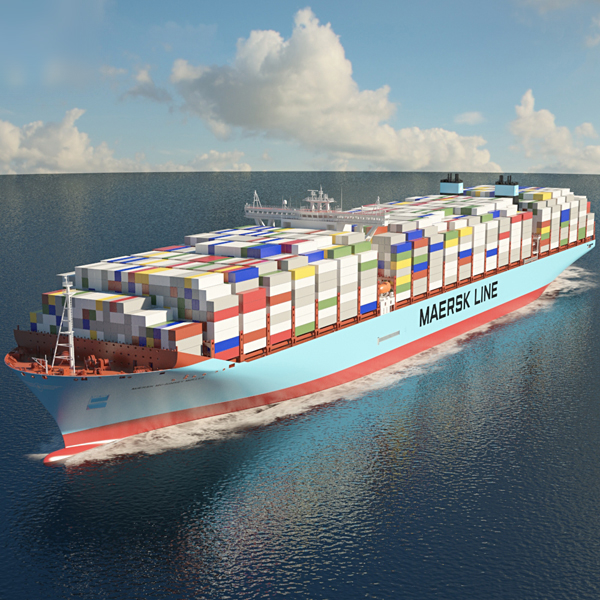 3D maersk container ship model
