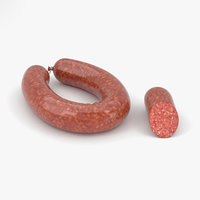 sausage meat food 3D model