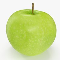 3D apple granny smith 02