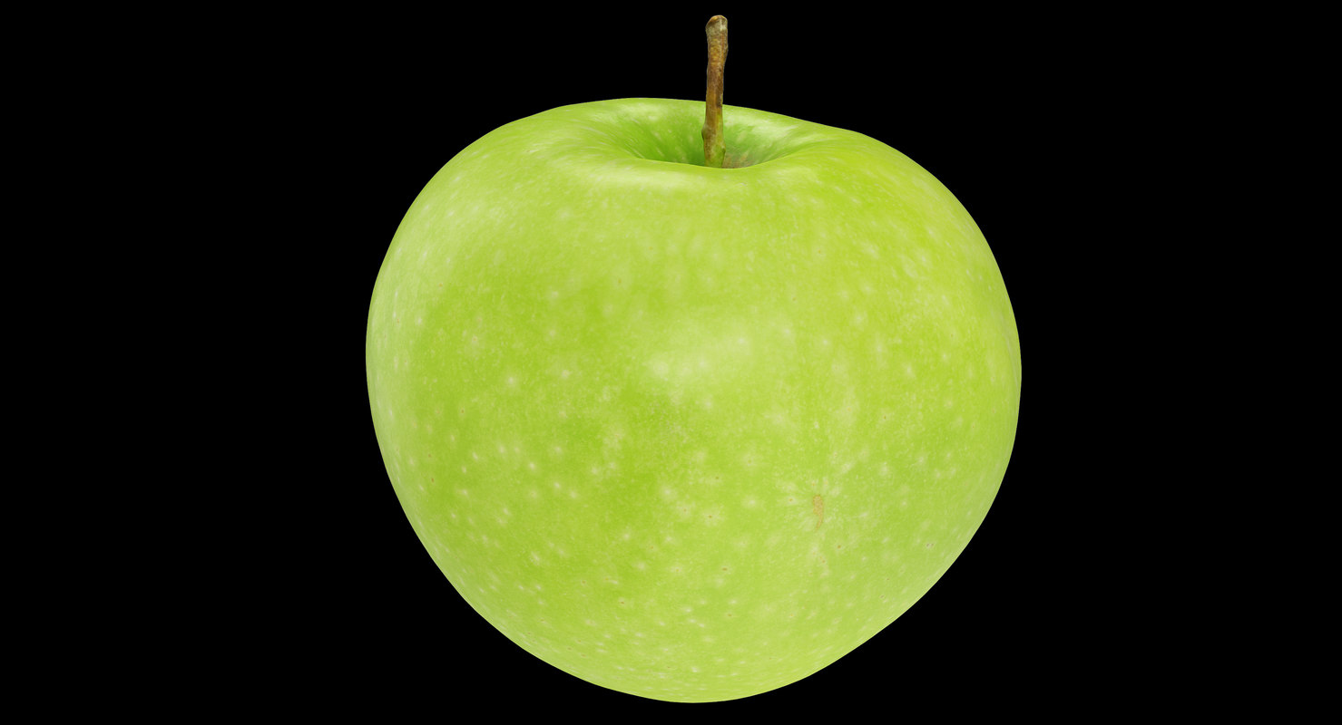 3D apple granny smith 02