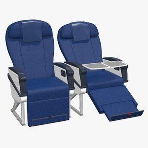 airplane chair business class 3D