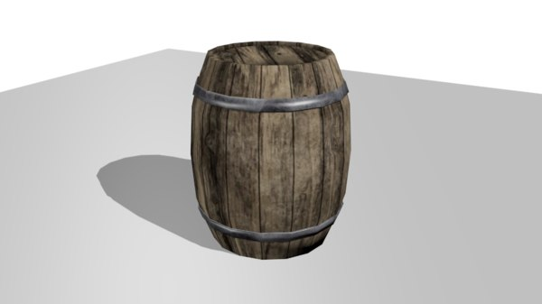 barrel asset 3D model