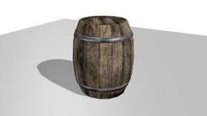 barrel asset 3D model