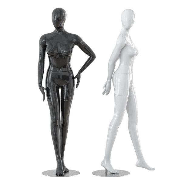 3D abstract female mannequins