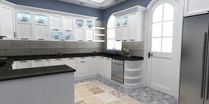 kitchen dinamic 3D model