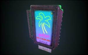 3D sign bar