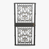 3D wrought iron gate 02 model