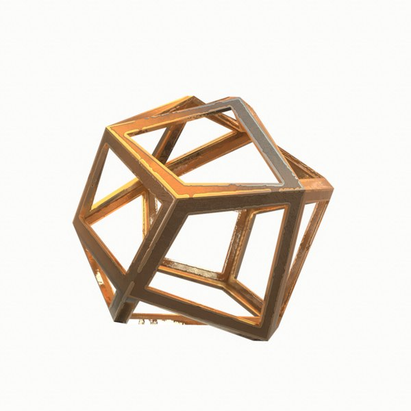 3D model design abstract object