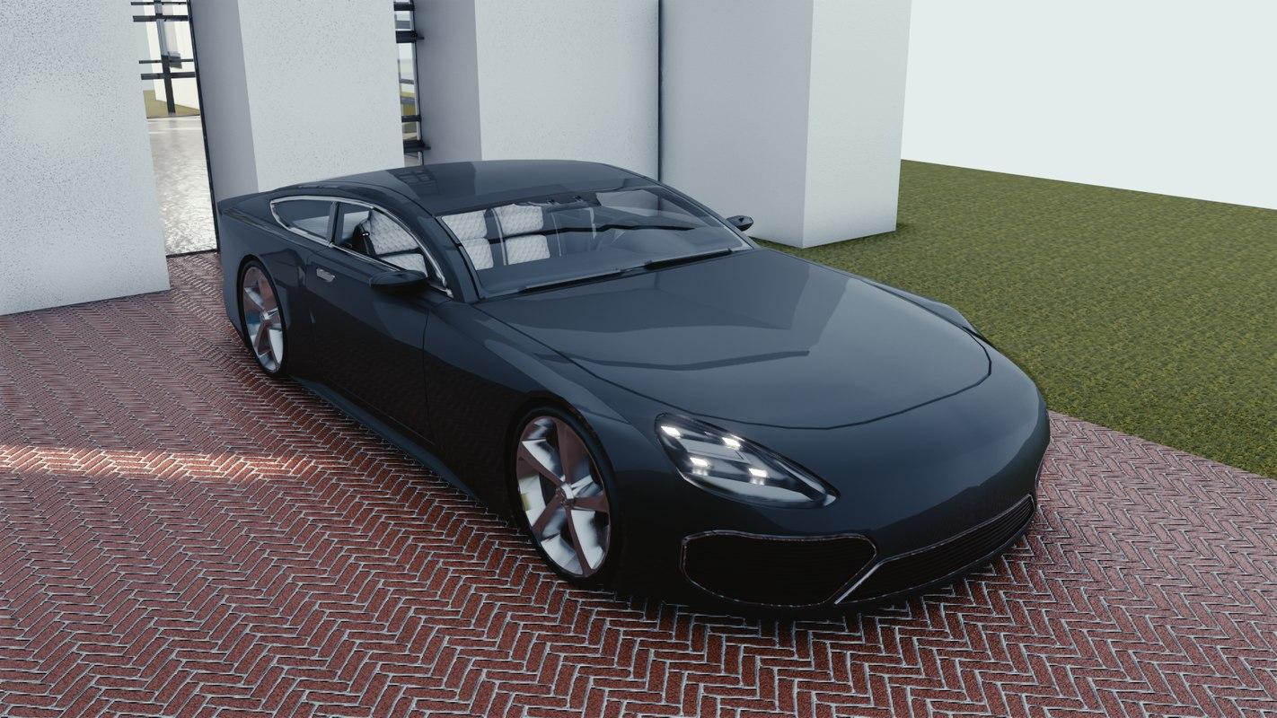 car blender eevee brandless 3D