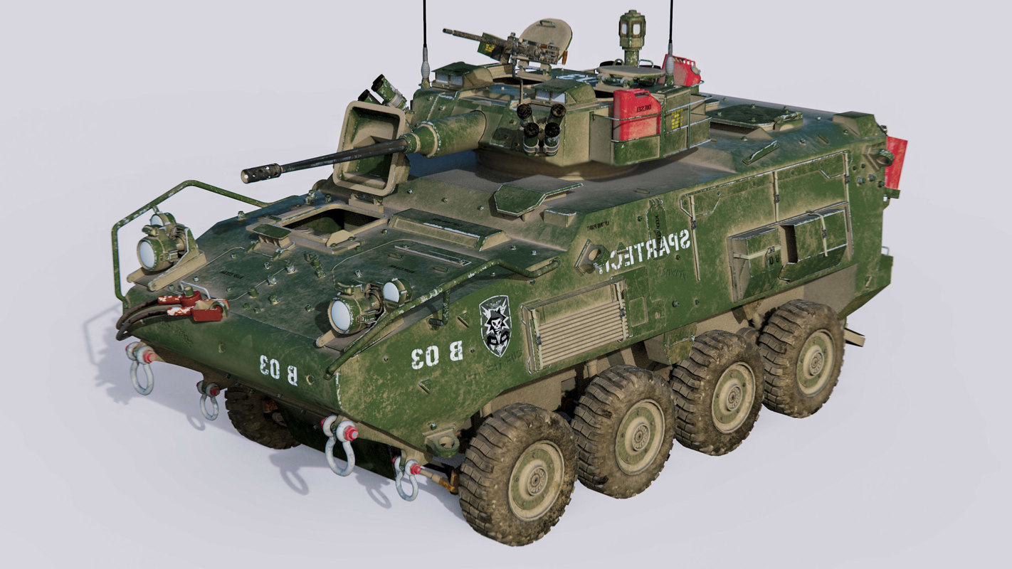 3D armored vehicle military